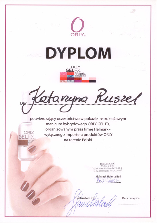 Manicure hybrydowy Orly Rzeszów